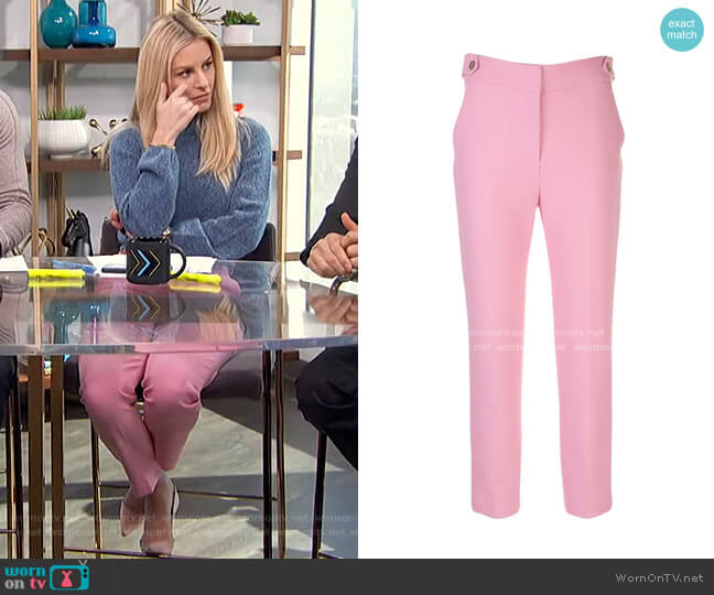 Gamila Cropped Tailored Trousers by Veronica Beard worn by Morgan Stewart  on E! News