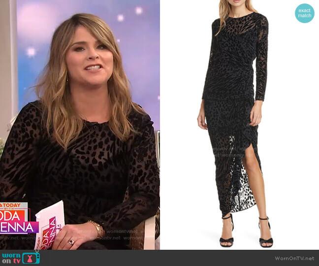 Lara Midi Dress by Veronica Beard worn by Jenna Bush Hager  on Today