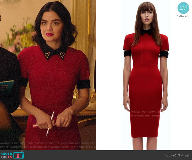 Victoria Beckham Fitted Polo Dress worn by Katy Keene (Lucy Hale) on Katy Keene