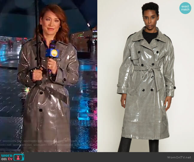 Willia Trench Coat by Walter Baker worn by Ginger Zee  on Good Morning America