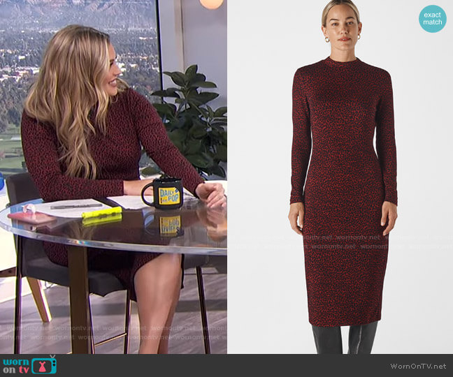Animal Jersey Jacquard Dress by Whistles worn by Carissa Loethen Culiner  on E! News