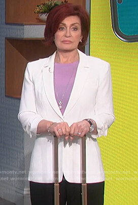 Sharon's white blazer on The Talk