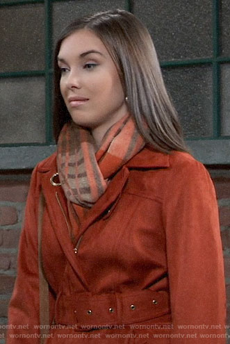 Willow's suede coat on General Hospital