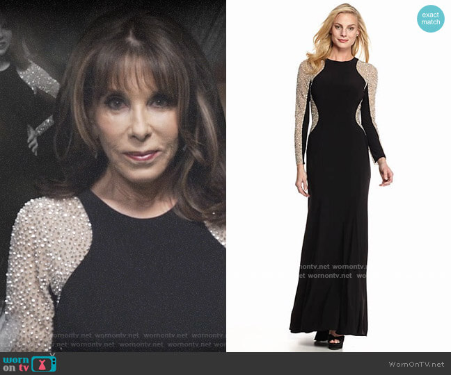 Xscape Bead Embellished Gown worn by Esther Valentine (Kate Linder) on The Young & the Restless