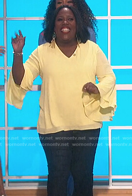 Sheryl's bell sleeve top on The Talk