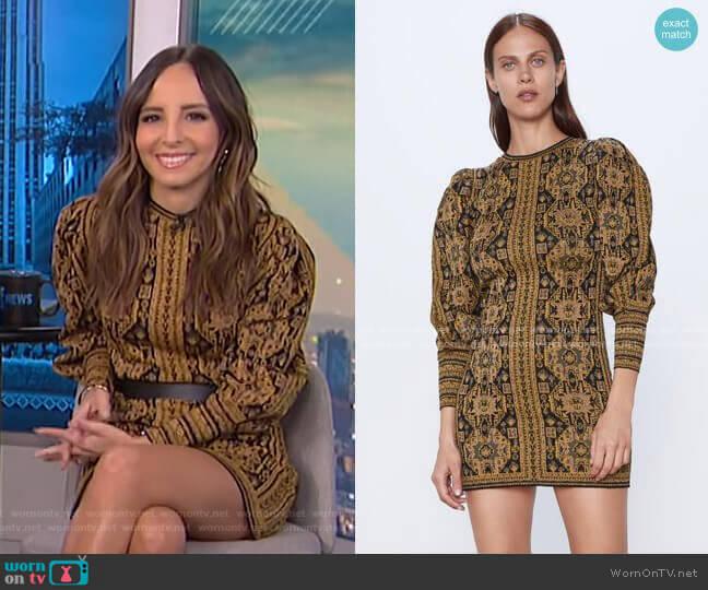 Jacquard Dress by Zara worn by Lilliana Vazquez  on E! News