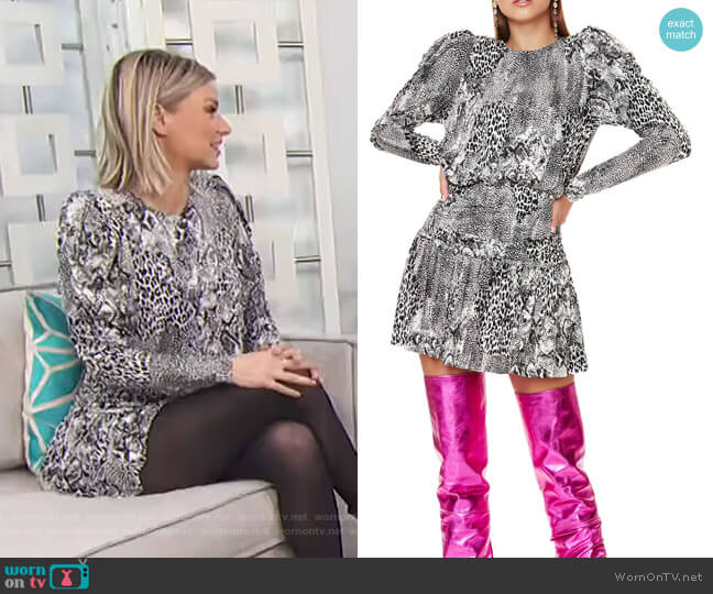 Bette Long Sleeve Minidress by AFRM worn by Ariana Madix on E! News
