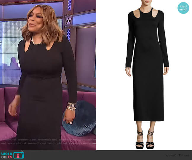 Jessa Long-Sleeve Cutout Ponte Midi Dress by A.L.C. worn by Wendy Williams  on The Wendy Williams Show