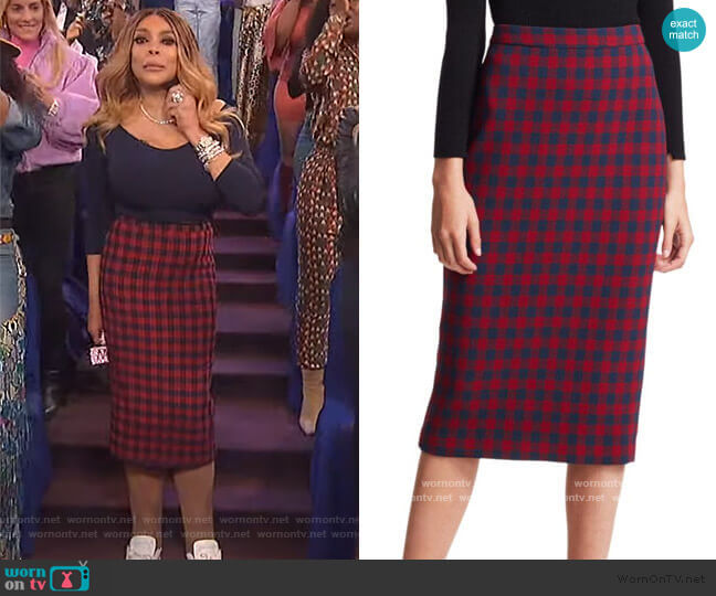 Thea Pencil Skirt by A.L.C. worn by Wendy Williams  on The Wendy Williams Show