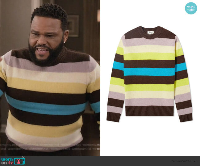 Kai Wool Crew Knit Sweater by Acne Studios worn by Andre Johnson (Anthony Anderson) on Blackish