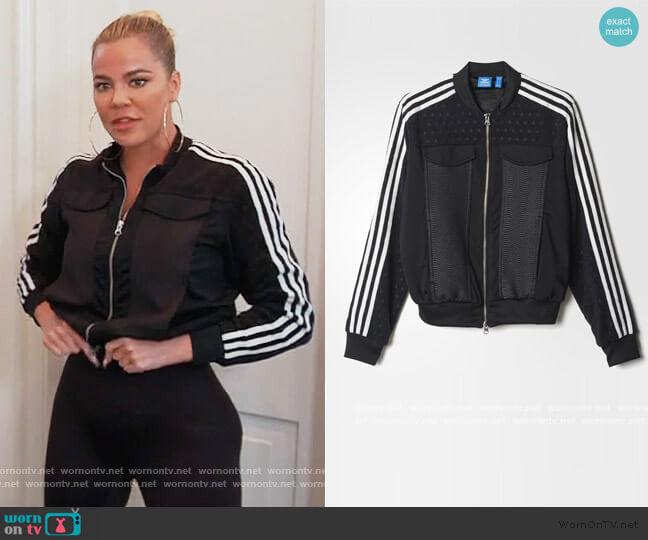 Berlin Superstar Track Jacket by Adidas worn by Khloe Kardashian  on Keeping Up with the Kardashians