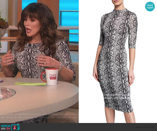 Delora Snake-Skin Print Dress by Alice + Olivia worn by Marie Osmond  on The Talk