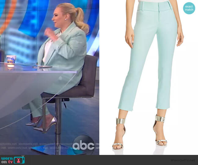 Stacey Slim Ankle Pants by Alice + Olivia worn by Meghan McCain  on The View