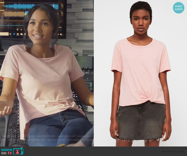 Wilma T-Shirt by All Saints worn by Layla Keating (Greta Onieogou) on All American