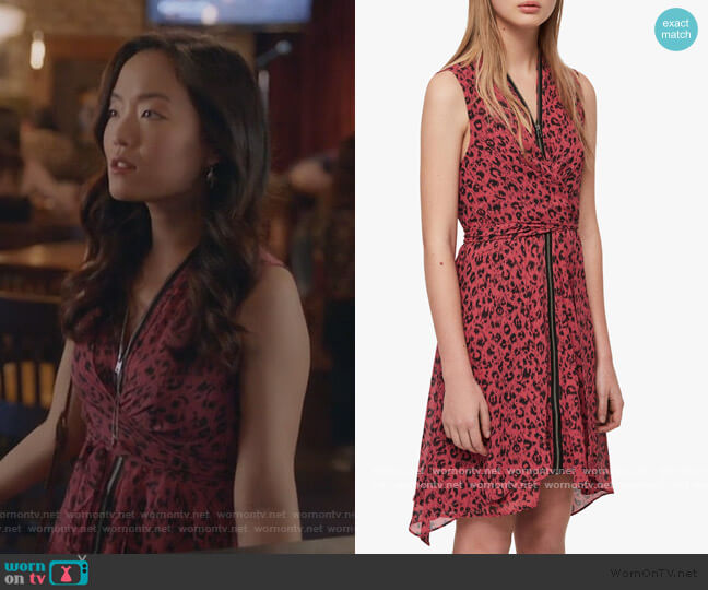 Jayda Roar Dress by All Saints worn by Janet (Andrea Bang) on Kims Convenience