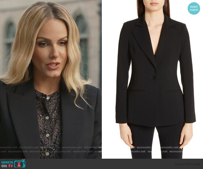Acacia One Button Jacket by Altuzarra worn by Laura Baker (Monet Mazur) on All American