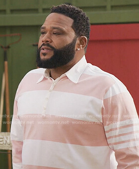 Andre's pink long sleeve polo shirt on Black-ish