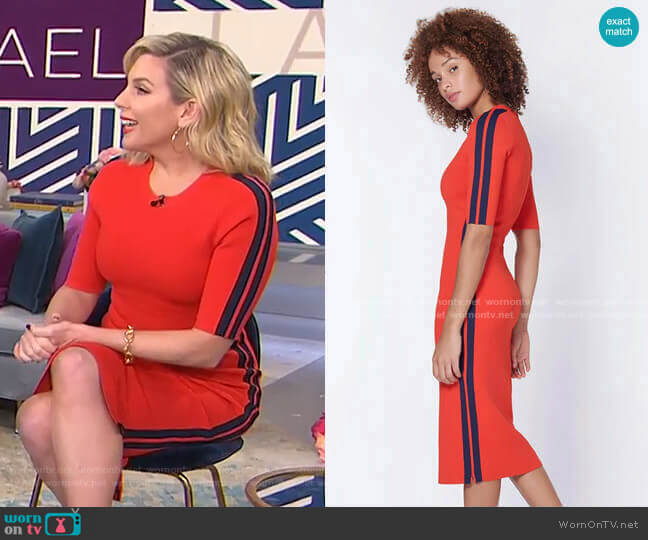Audrie Dress with Race Stripes by Veronica Beard worn by June Diane Raphael on Today