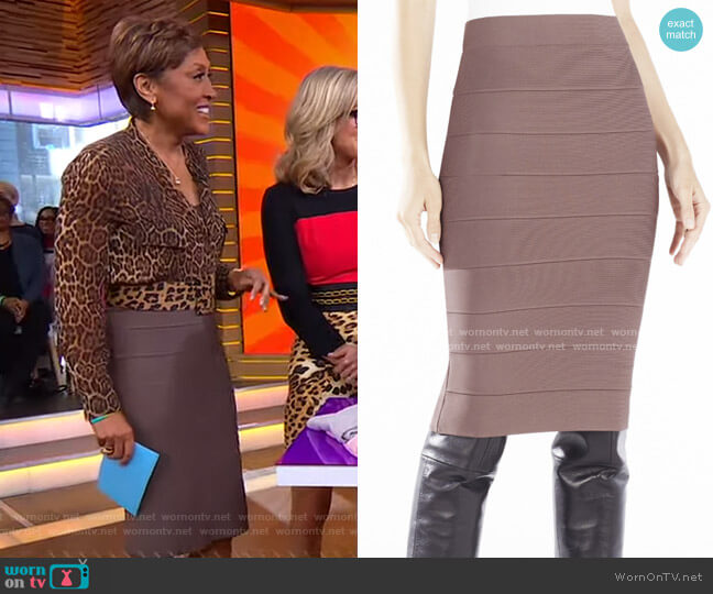Pencil Skirt by Bcbgmaxazria worn by Robin Roberts  on Good Morning America