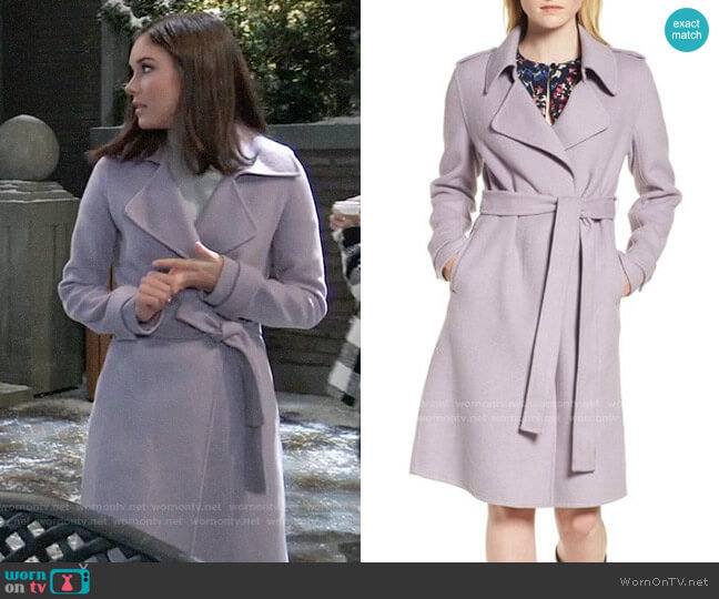 Badgley Mischka Chloe Coat worn by Willow Tait (Katelyn MacMullen) on General Hospital