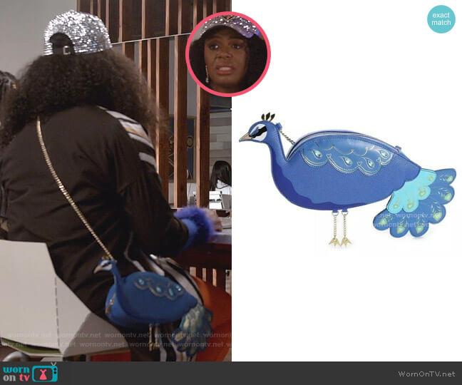 Fancy as Flock Crossbody by Betsey Johnson worn by Porsha Taylor (Ta'Rhonda Jones) on Empire