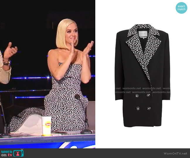 Leopard Lapel Suiting Blazer by Carmen March worn by Katy Perry  on American Idol