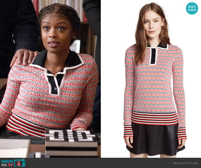 Carven Polo Sweater worn by Ali Finer (Javicia Leslie) on God Friended Me