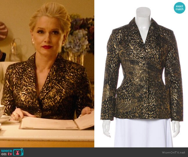 WornOnTV: Gloria's gold fireworks print jacket on Katy Keene ...