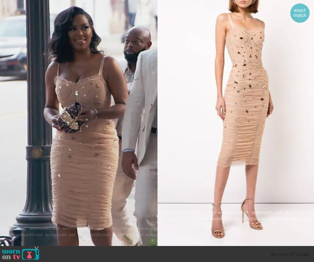 Drape Dress by Dolce & Gabbana worn by Kenya Moore  on The Real Housewives of Atlanta
