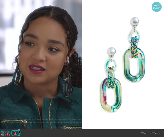 Nobu Earrings by Diana Broussar worn by Kat Edison (Aisha Dee) on The Bold Type