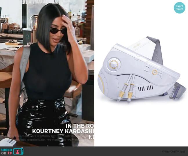 x Sorayama Saddle Bag by Dior worn by Kim Kardashian  on Keeping Up with the Kardashians