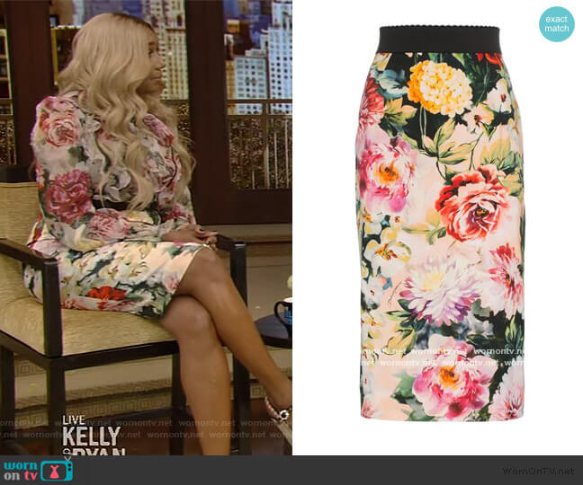 Floral Print Pencil Skirt by Dolce & Gabbana
