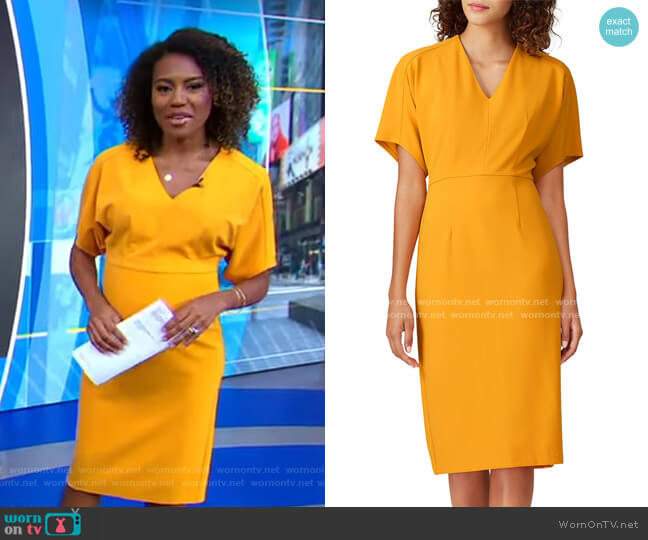 Bat Sleeve Dress by Donna Morgan worn by Janai Norman  on Good Morning America