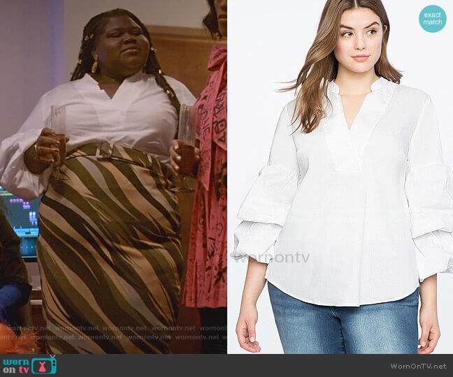 Dramatic Puff Sleeve Top by Eloquii worn by Becky (Gabourey Sidibe) on Empire