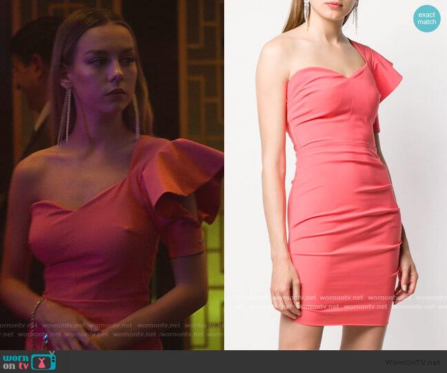 One Shoulder Mini Dress by Elisabetta Franchi worn by Carla Roson Caleruega (Ester Exposito) on Elite