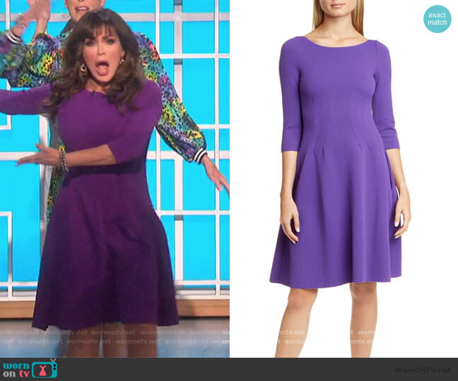 Jersey Wave Fit & Flare Dress by Emporio Armani worn by Marie Osmond  on The Talk