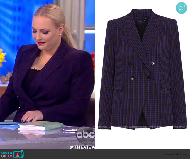Jezebel Check Blazer by Elie Tahari worn by Meghan McCain  on The View