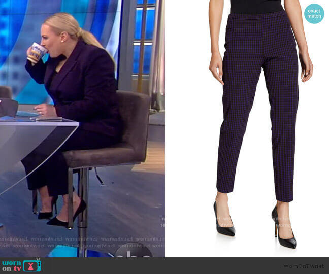 Marcia Check Pants by Elie Tahari worn by Meghan McCain  on The View