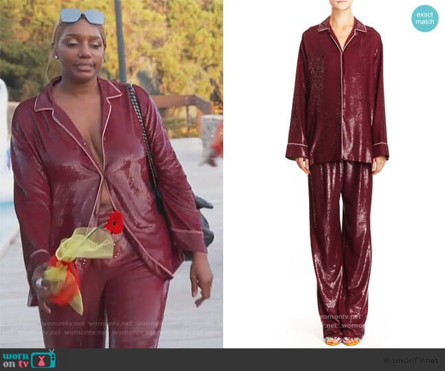 Pajama Top and Pant by Emilio Pucci worn by Nene Leakes  on The Real Housewives of Atlanta