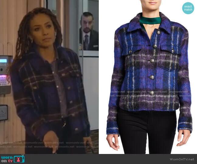 Emmons Plaid Wool-Blend Jacket by Veronica Beard worn by Teri Brooks-Lyon (Meta Golding) on Empire