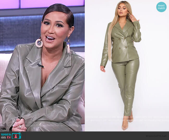 Suit For Success Blazer by Fashion Nova worn by Adrienne Houghton  on The Real