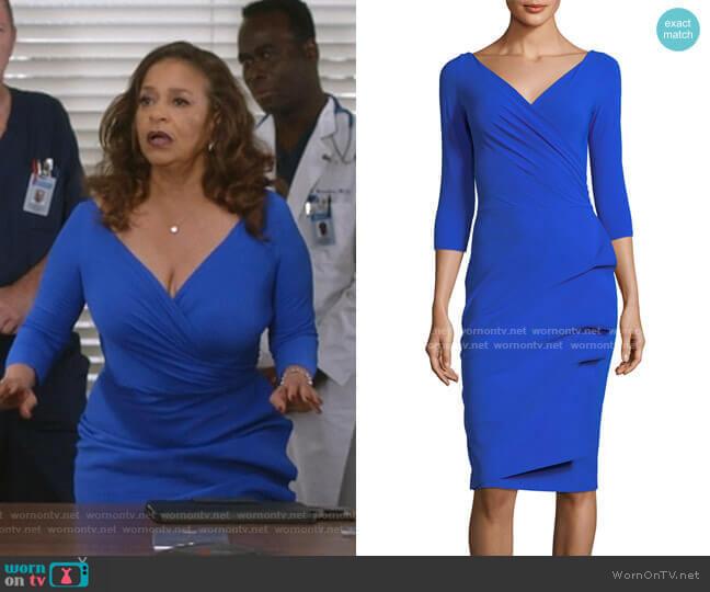 Florien Jersey Dress by La Petite Robe di Chiara Boni worn by Catherine Avery (Debbie Allen) on Greys Anatomy