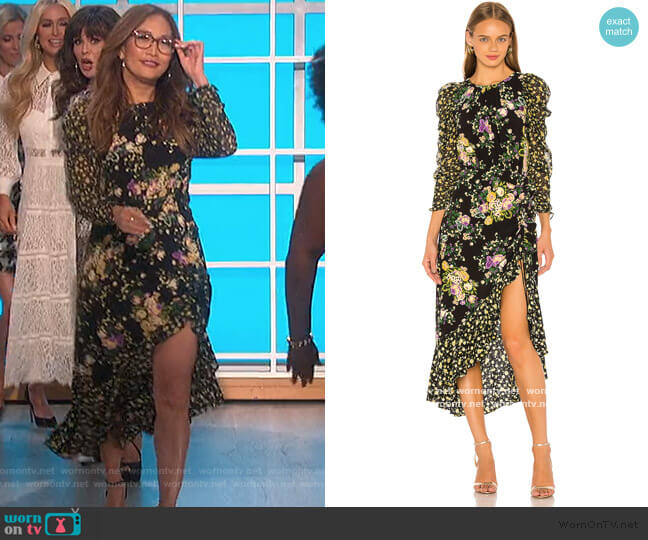 Ross Midi Dress by For Love & Lemons worn by Carrie Inaba  on The Talk
