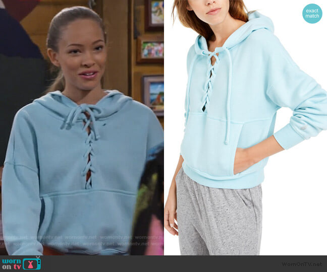 Movement Believe It Lace-Up Hoodie by Free People worn by Ava (Shelby Simmons) on Bunkd