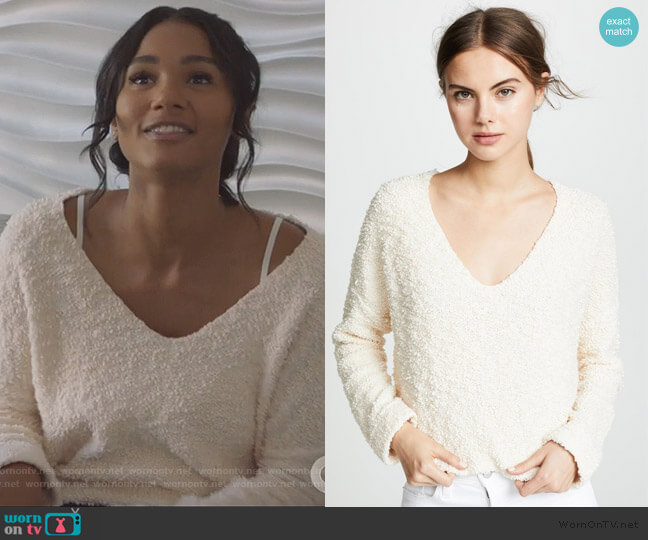 Popcorn Sweater by Free People worn by Layla Keating (Greta Onieogou) on All American