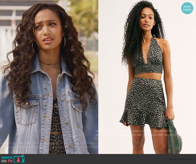 Starstruck Slip Set by Free People worn by Olivia Baker (Samantha Logan) on All American