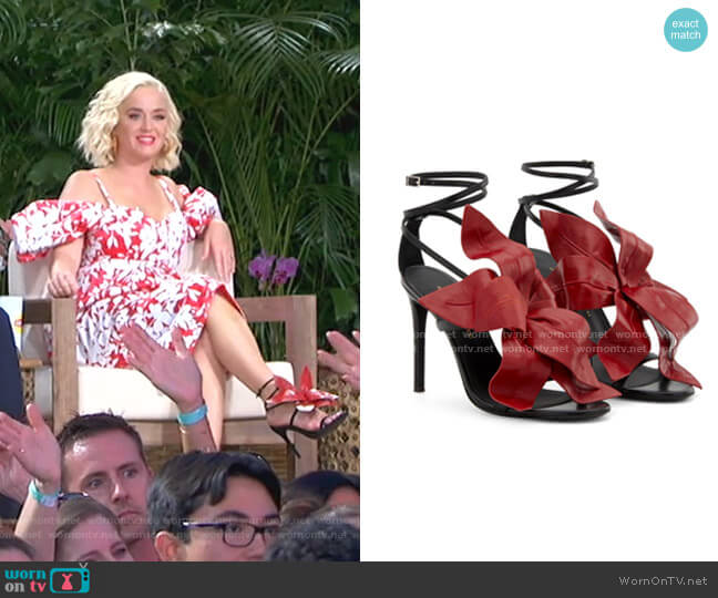 Lilium Sandals by Giuseppe Zanotti worn by Katy Perry  on American Idol