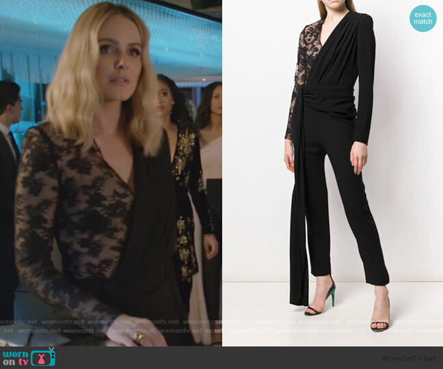 Lace Draped Detailed Jumpsuit by Givenchy worn by Laura Baker (Monet Mazur) on All American