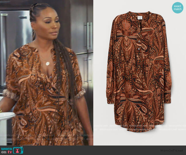 Paisley Patterned Dress by H&M worn by Cynthia Bailey  on The Real Housewives of Atlanta