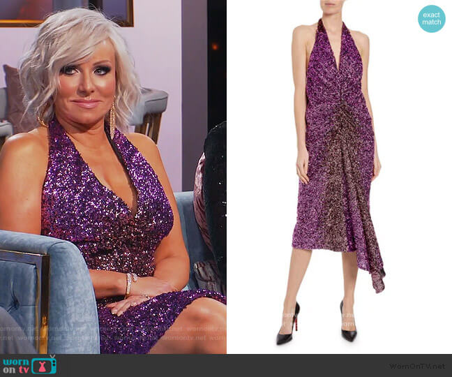 Ruched Degrade Sequin Dress by Halpern worn by Margaret Josephs  on The Real Housewives of New Jersey